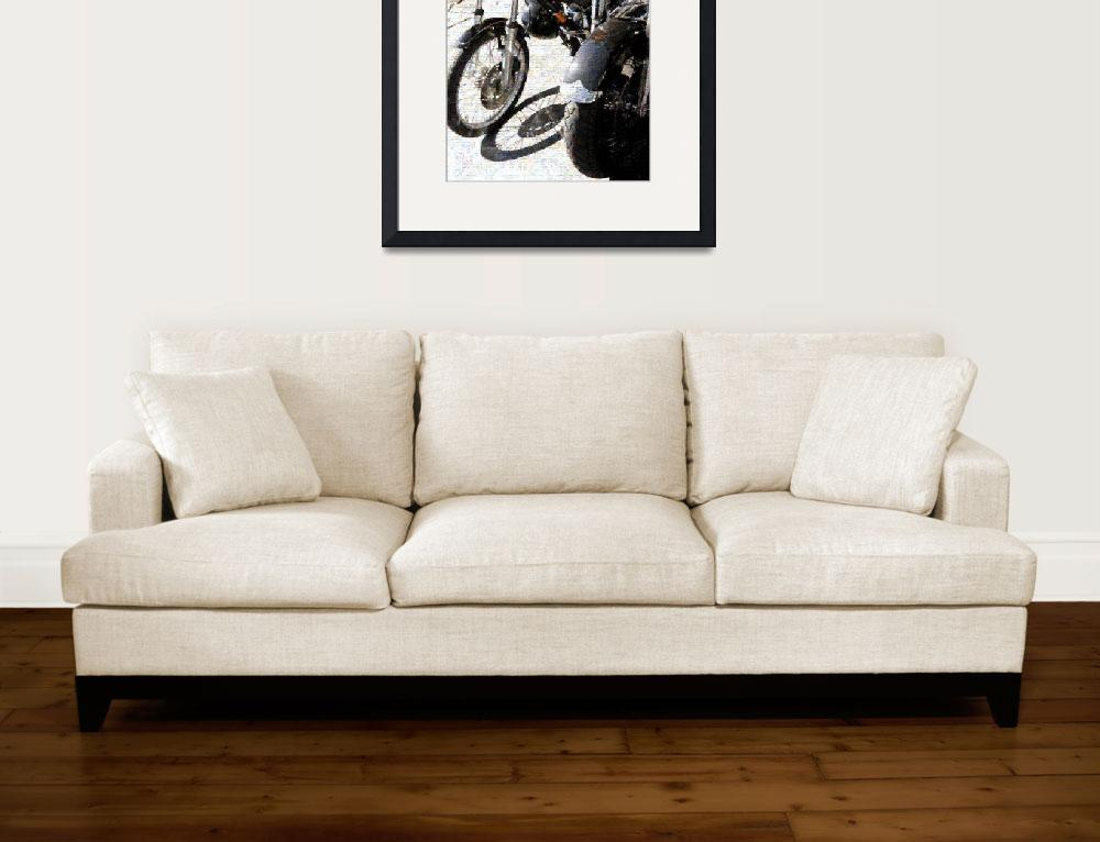 """Motor Bike Photo Mosaic&quot  (2010) by LocalStockPhoto"