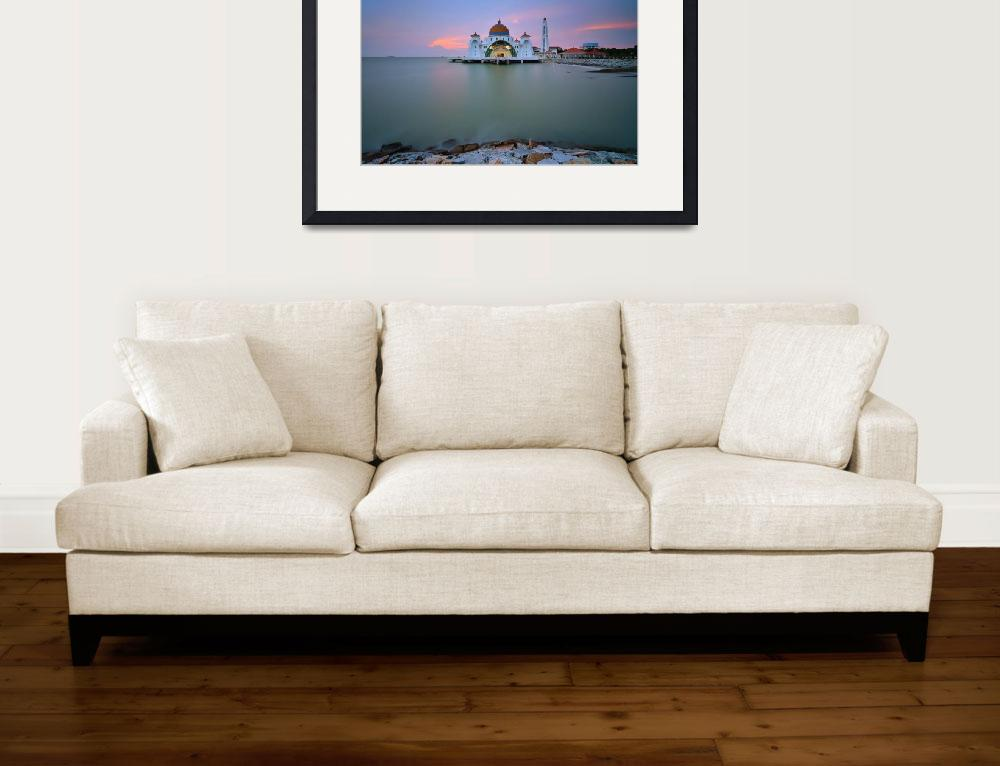 """""""The Floating Straits Mosque&quot  (2013) by AriefRasa"""