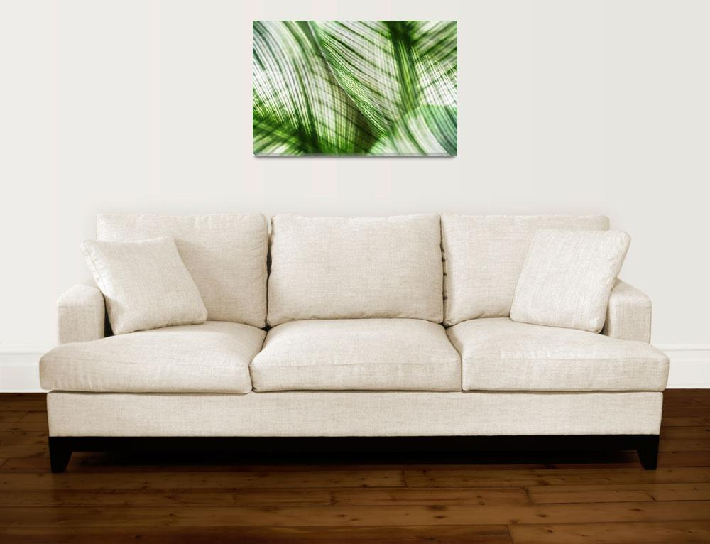 """""""Nature Leaves Abstract in Green&quot  (2012) by NatalieKinnear"""