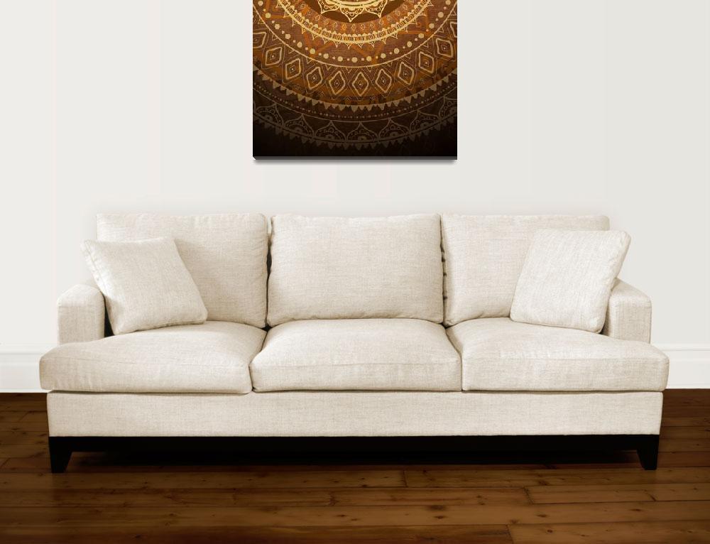 """Mandala. Hand drawn Ethnic vintage pattern.""  by katyau"