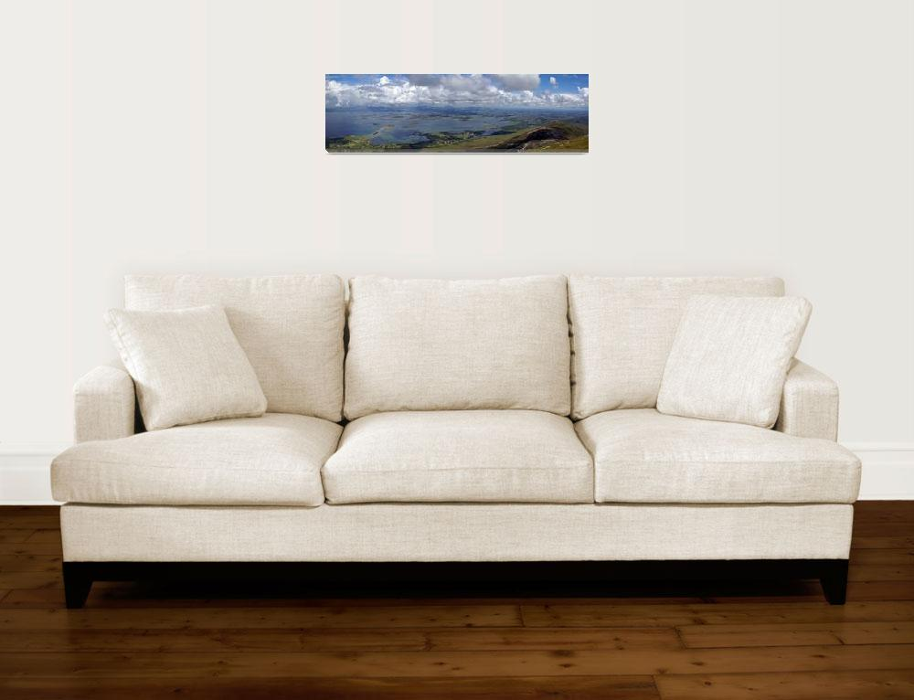 """""""Croagh Patrick Panorama""""  (2009) by staceybassoon"""