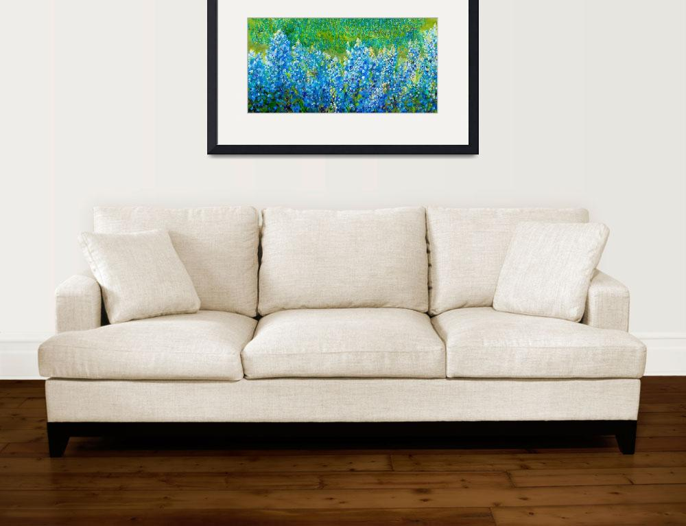 """Bluebonnet Panorama&quot  by EloiseArt"