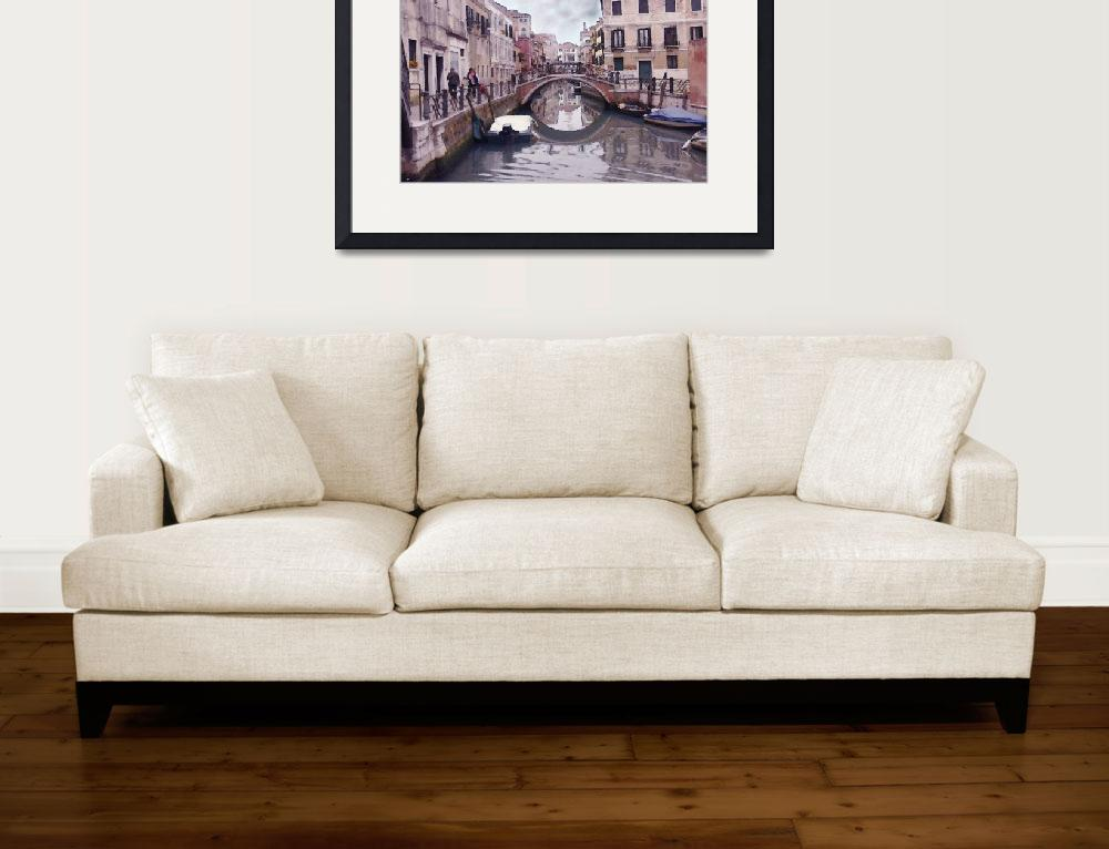 """""""Venice Cannaregio Canal - Oil Painting&quot  (2014) by Art-America"""
