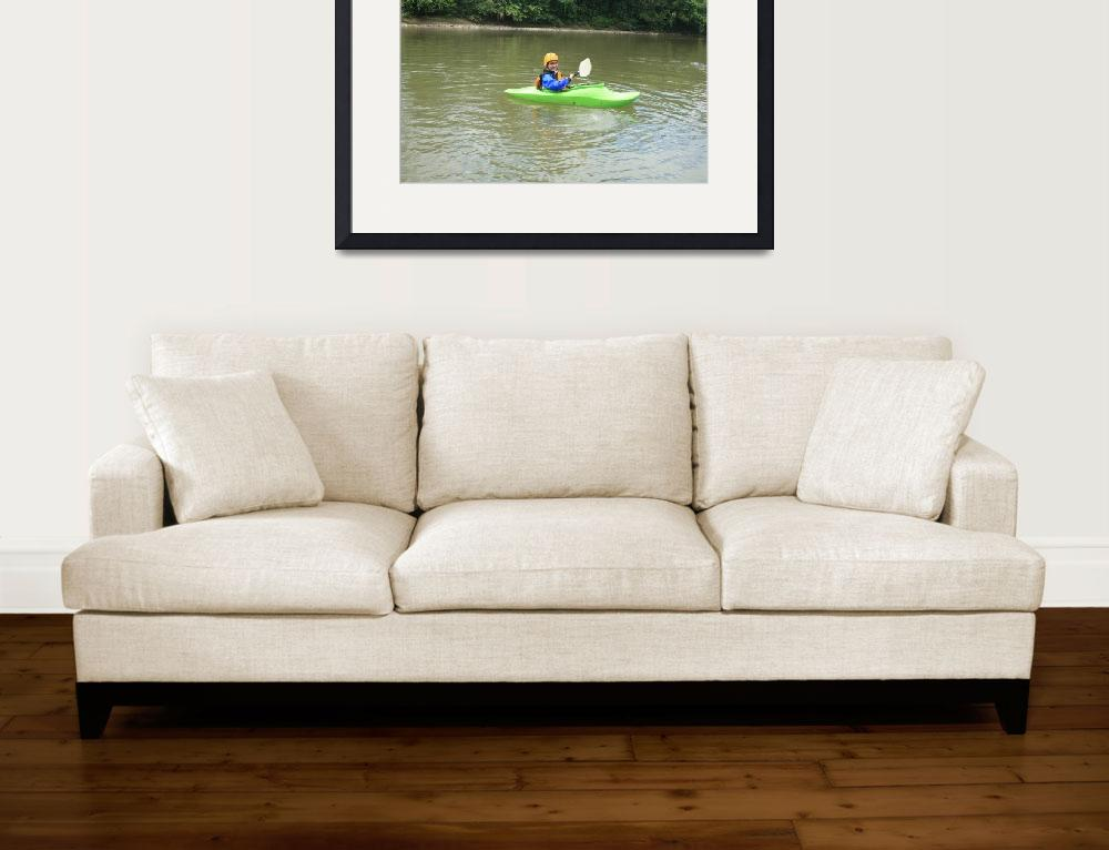 """Teen Kayaking&quot  (2012) by rhamm"