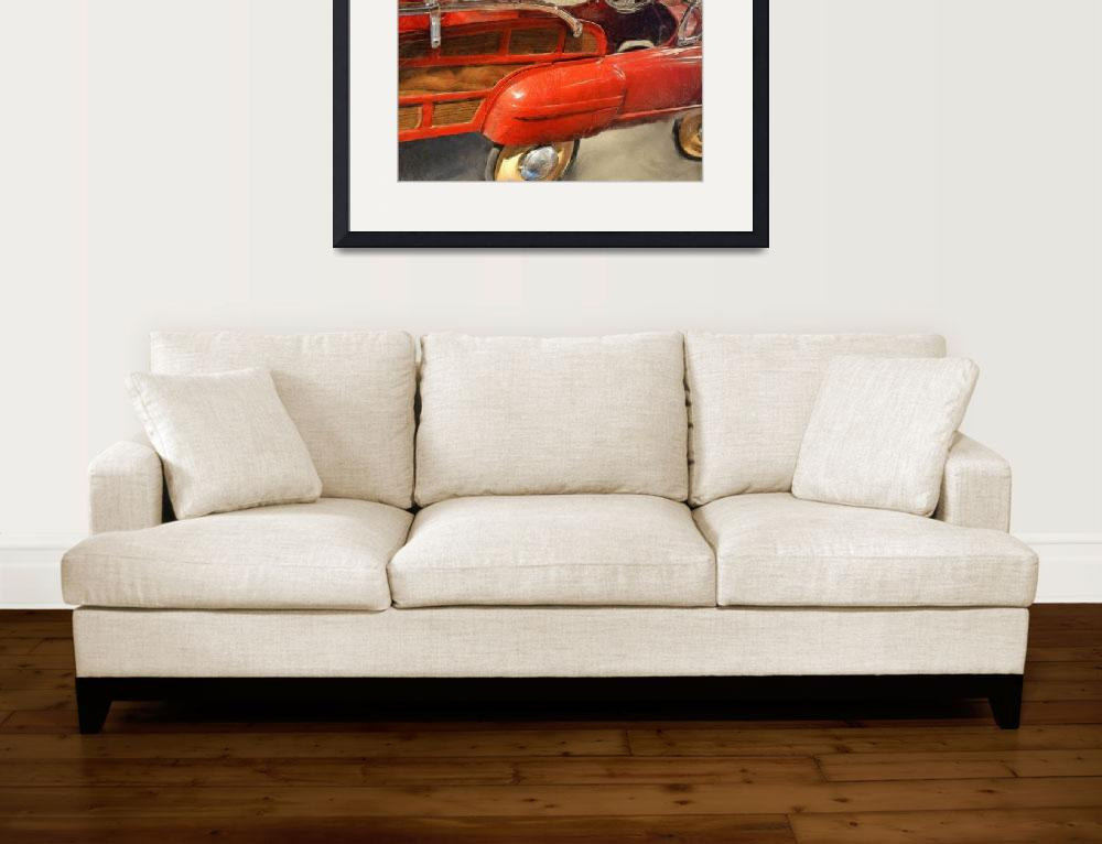 """""""Fire Engine Pedal Car&quot  (2013) by Michelle1991"""