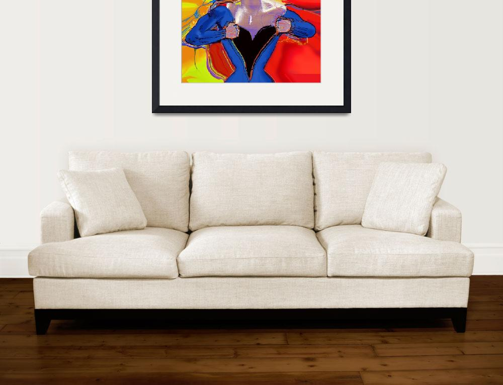 """Superwoman&quot  (2013) by RubinoFineArt"