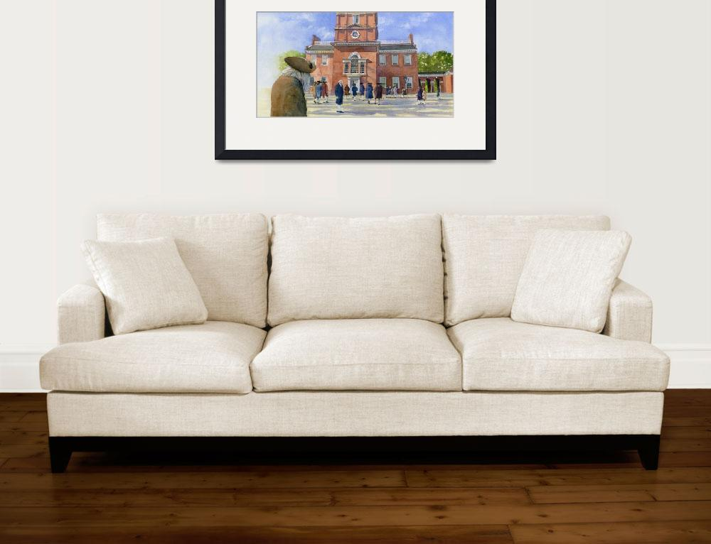 """""""Independence Hall and delegates""""  by fineartmasters"""