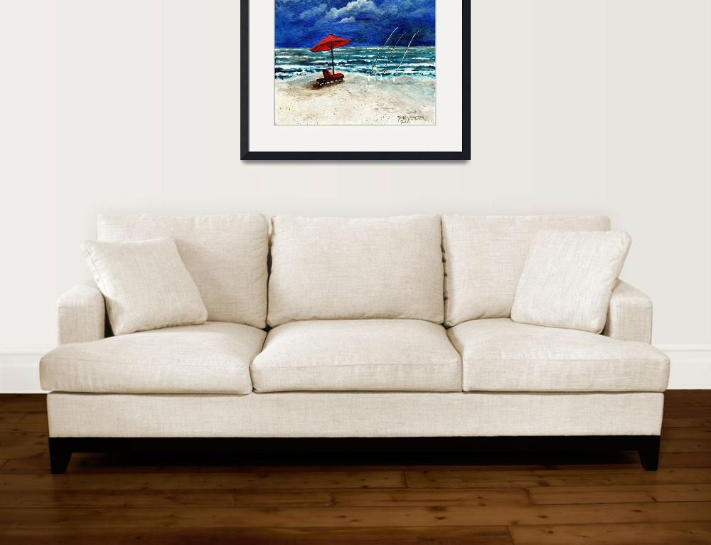 """surf fishing acrylic painting""  (2010) by derekmccrea"