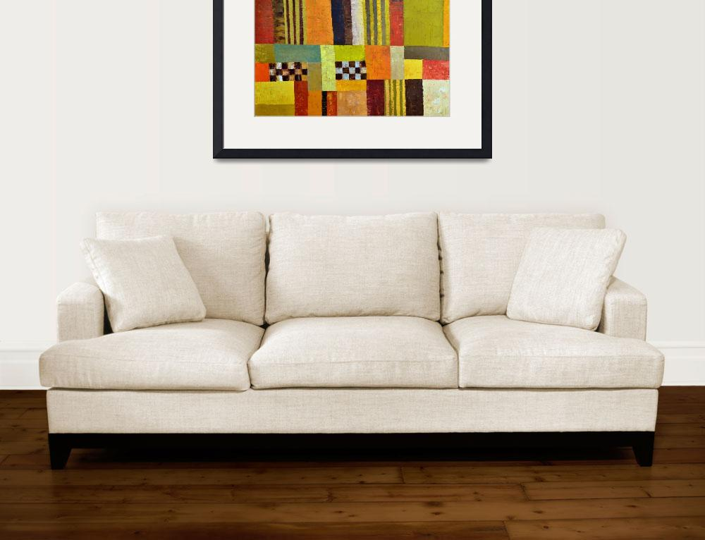 """""""Abstract with Stripes and Checkerboard&quot  (2009) by Michelle1991"""