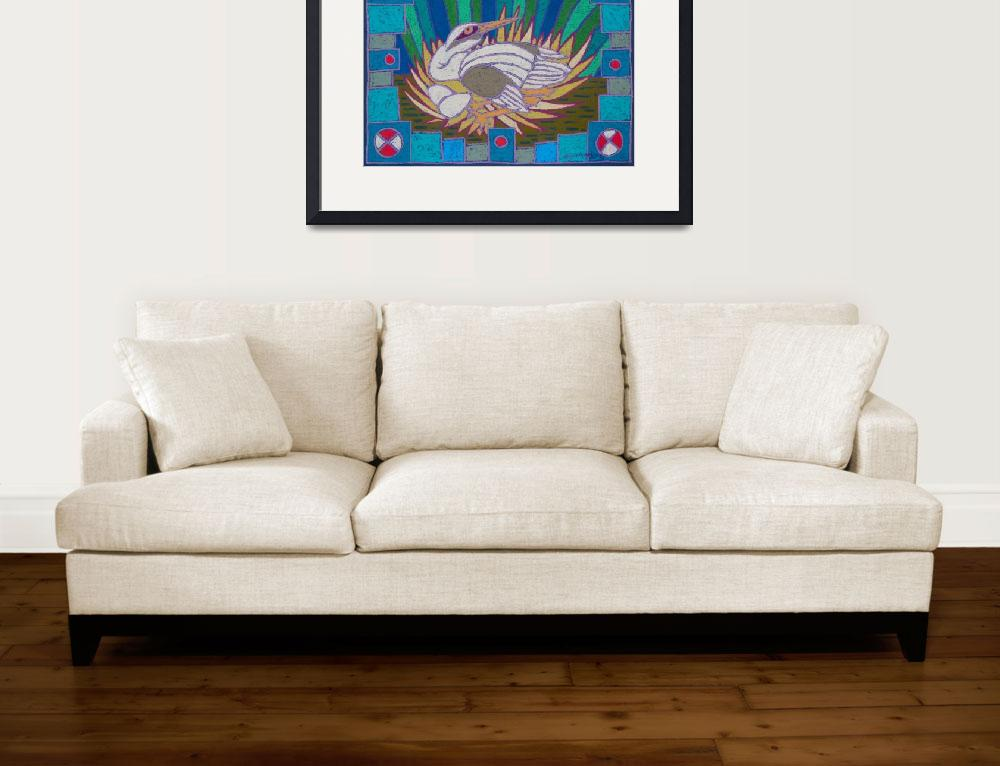 """""""Startled Bird&quot  (1996) by simmonsfineart"""