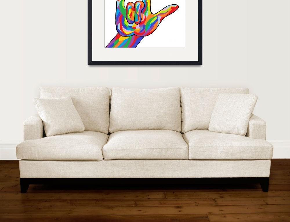 """""""ASL I Love You BOLD COLOR&quot  by EloiseArt"""