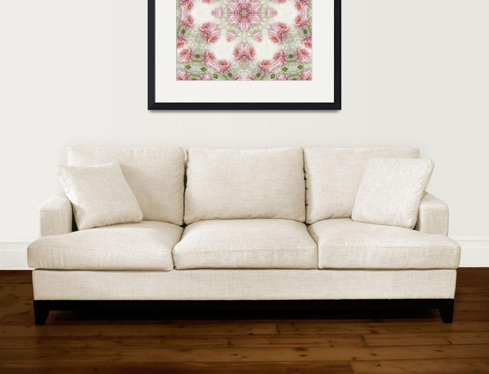 """Pink Chrysanthemums Kaleidoscope Art 5&quot  (2009) by ChristopherInMexico"