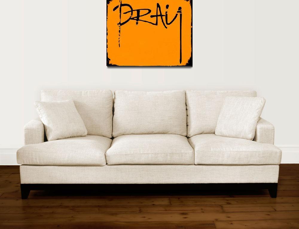 """pray black and orange&quot  by lizmix"