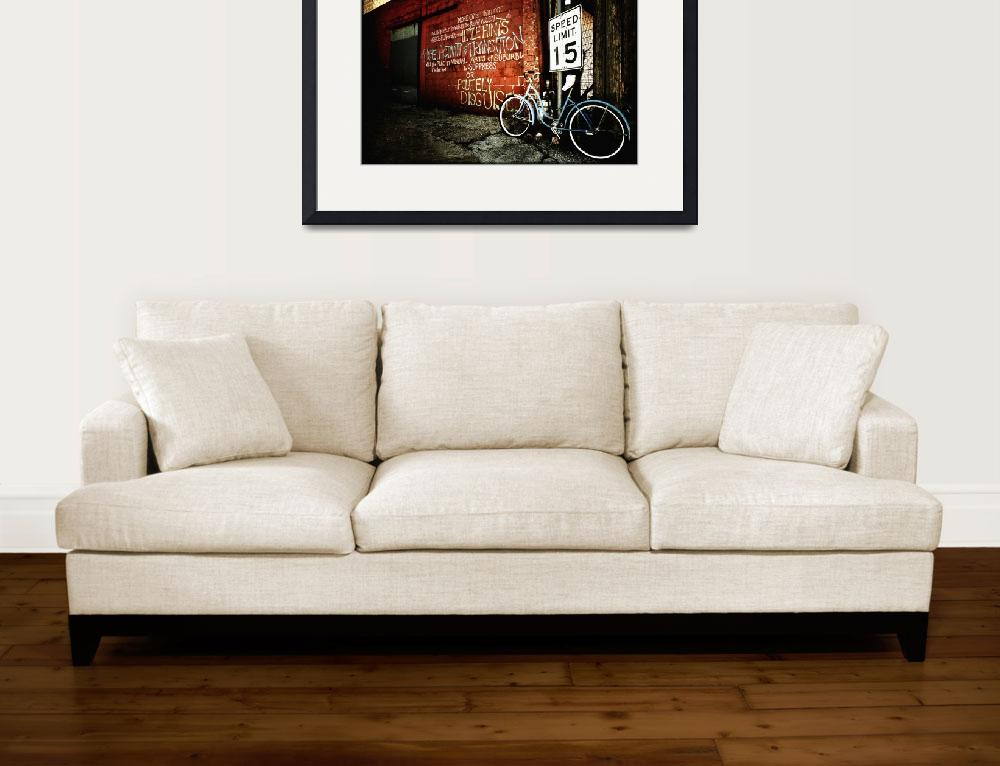 """""""Bike in Alley&quot  (2008) by crowt59"""