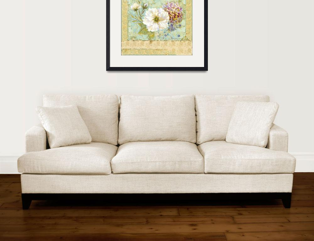 """""""Faded Flower Wild Rose&quot  (2007) by MargaretLeVanDesigns"""