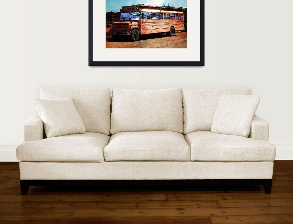 """School Bus 5D24927""  (2017) by wingsdomain"
