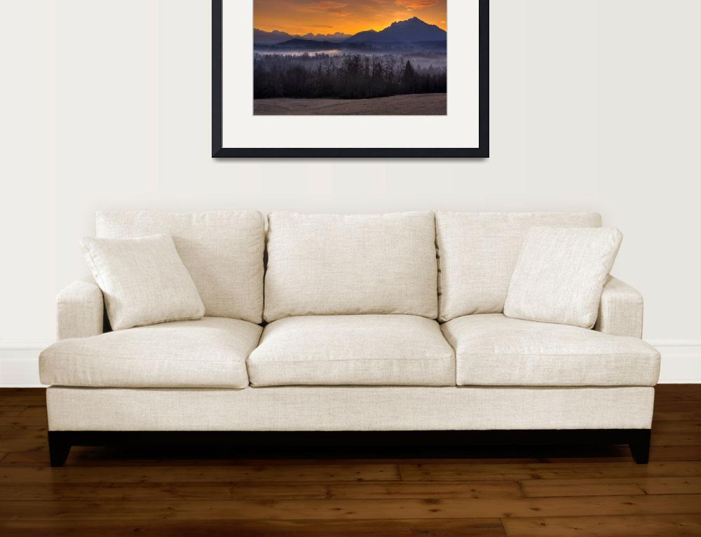 """Mt. Pilchuck Sunrise""  (2009) by JimDockery"