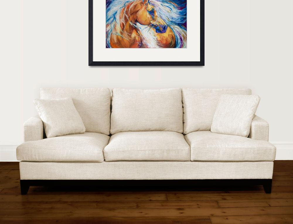 """FREE BREEZE PALOMINO&quot  (2013) by MBaldwinFineArt2006"