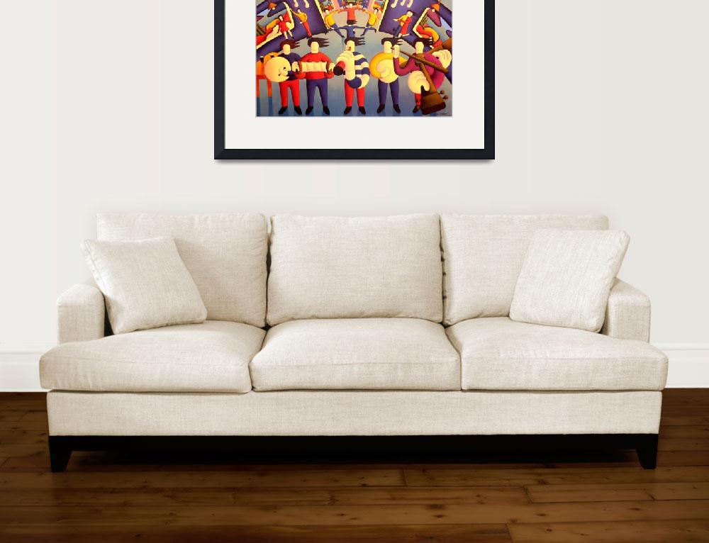 """""""Trad session interior with dancers&quot  by alankenny"""