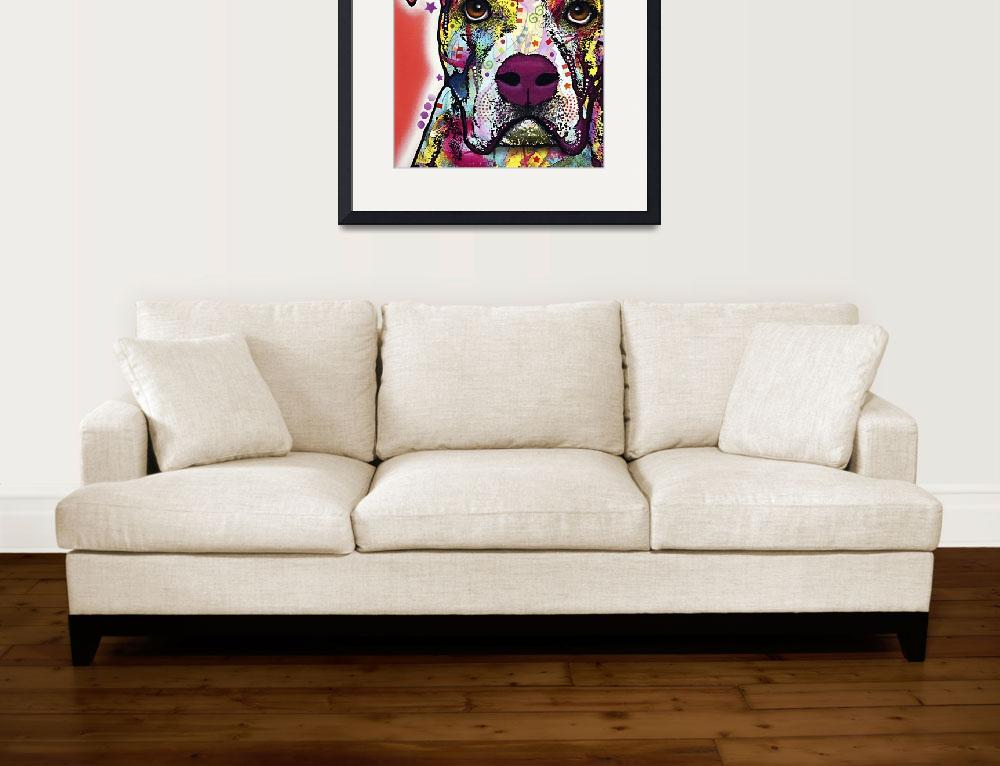 """American Bulldog&quot  by artlicensing"