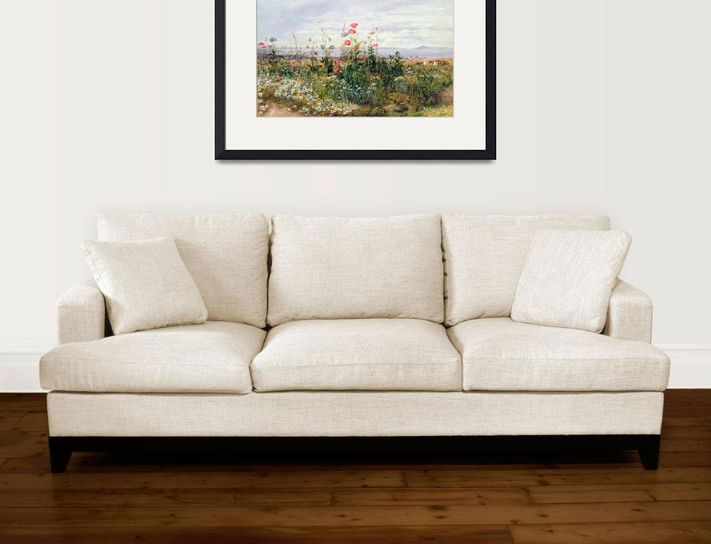 """""""Wildflowers with a View of Dublin Dunleary (w/c on&quot  by fineartmasters"""