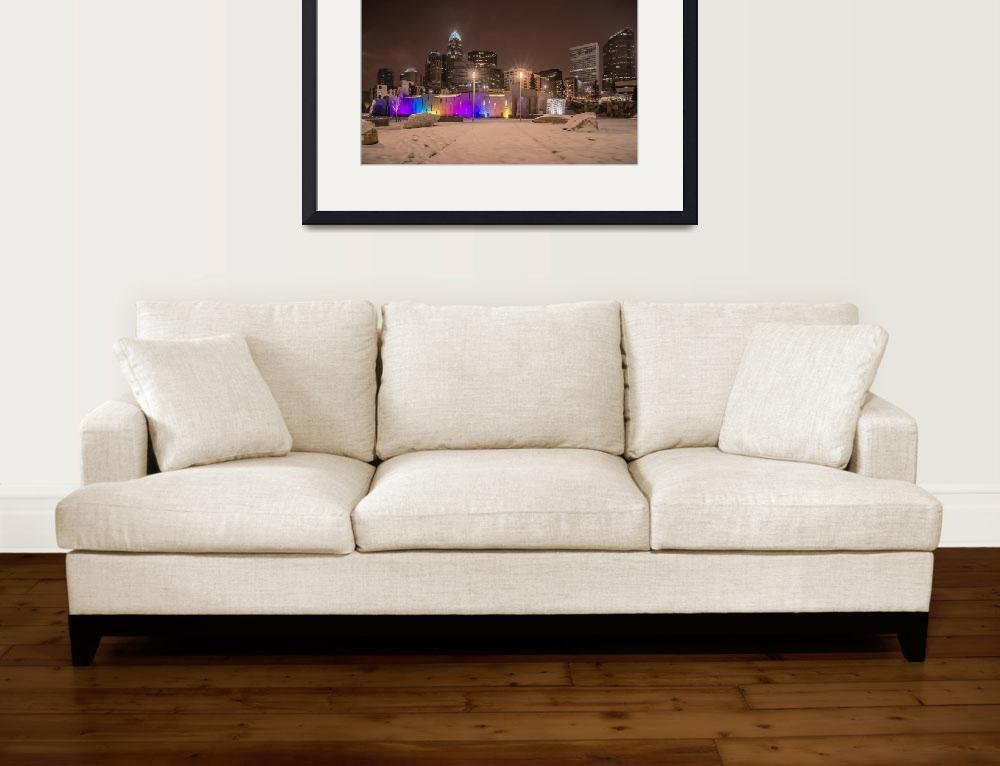 """""""charlotte queen city skyline near romare bearden p&quot  by digidreamgrafix"""