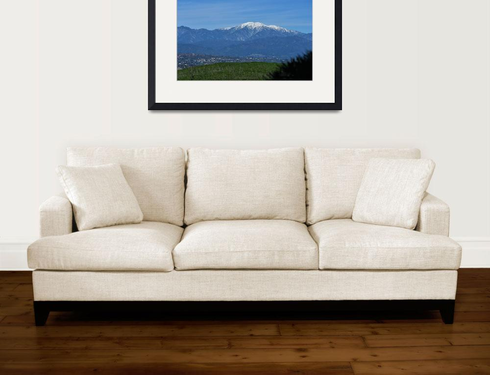 """Snow Capped Mt Baldy and San Gabriel Mountains""  (2019) by Booradley"