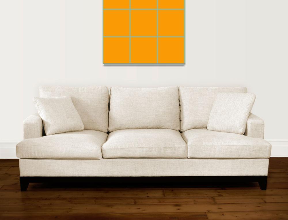 """Orange Window 122 Canvas Contemporary Modern""  (2010) by Ricardos"