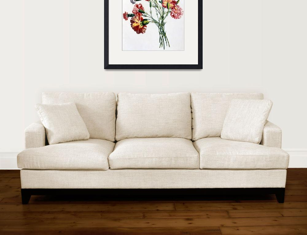 """""""Bouquet of Carnations""""  by fineartmasters"""