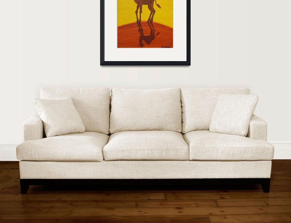 """""""FUNKY CAMEL (Outback Australia)&quot  (2007) by RoseLangfordPrints"""