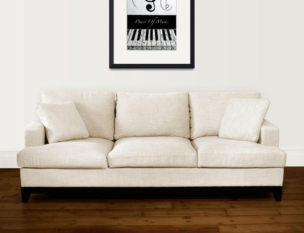 """""""Power Of Music - Black Notes&quot  by waynecantrell"""