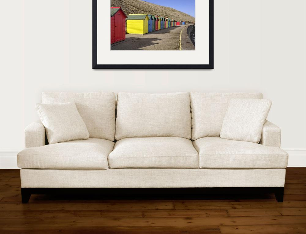 """""""Beach Chalets, Whitby (35793-RDA)&quot  (2013) by rodjohnson"""