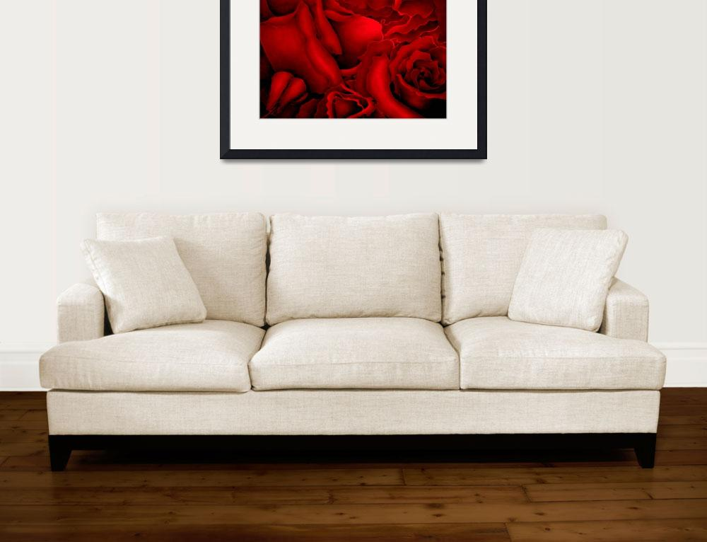 """""""Abstract Red Roses&quot  by terrimeyers"""