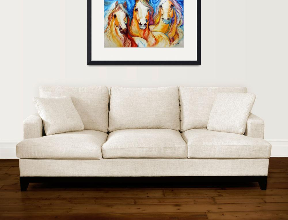 """""""SPIRITS THREE EQUINE ART by MARCIA BALDWIN&quot  (2010) by MBaldwinFineArt2006"""