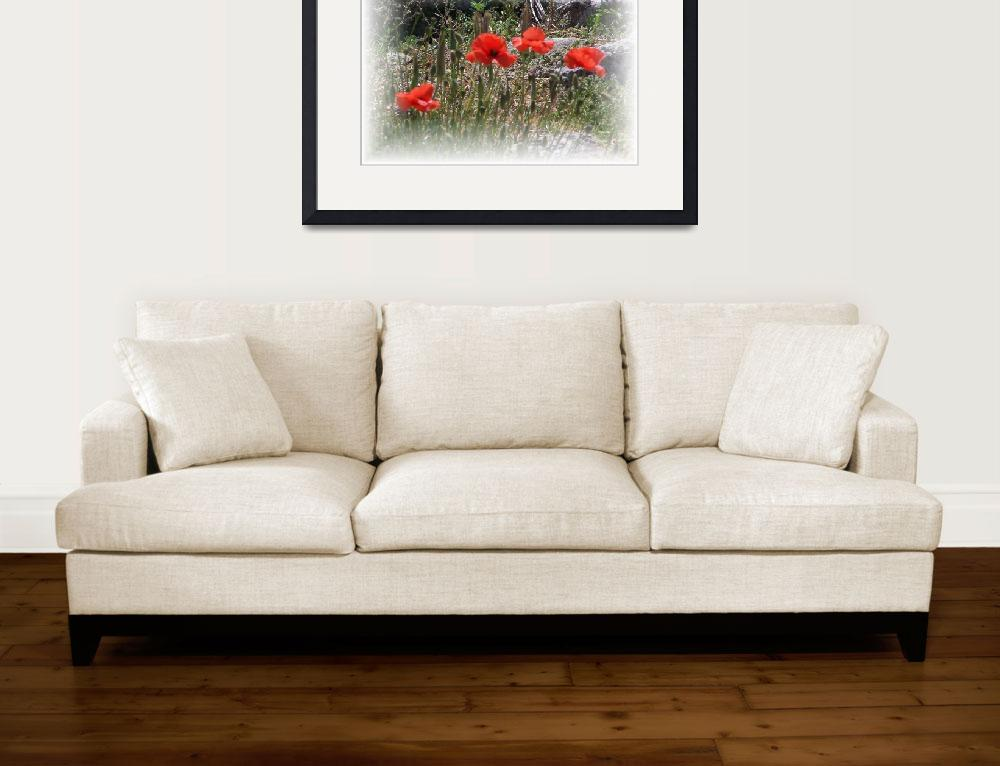 """""""Poppies Center Stage&quot  (2006) by nadinerippelmeyer"""
