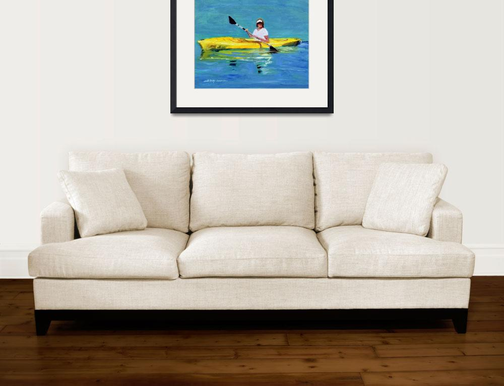 """Yellow Kayak""  (2013) by ShelleyKoopmann"