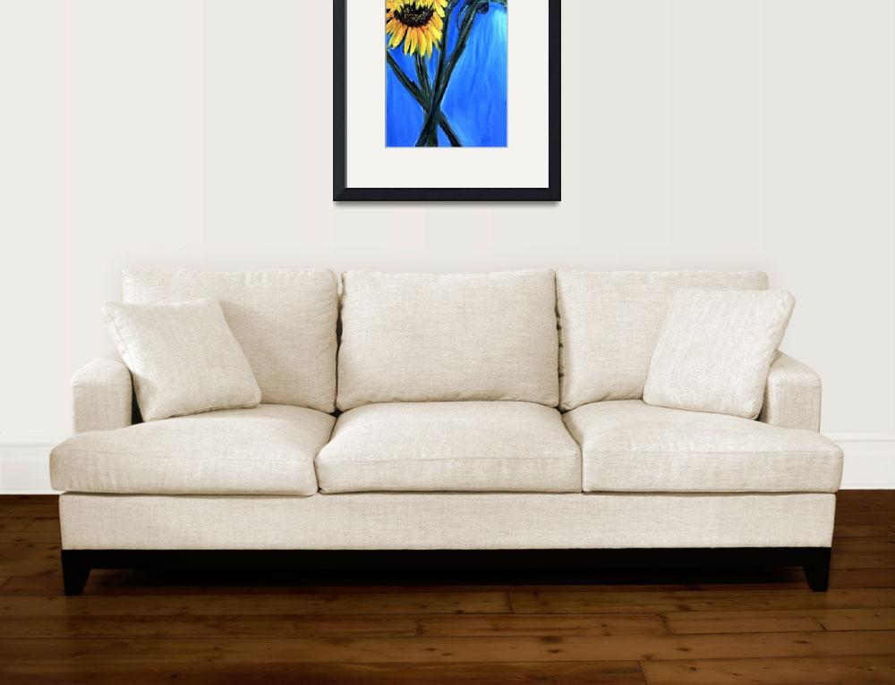 """""""sunflowers&quot  (2000) by elilundpaintings"""