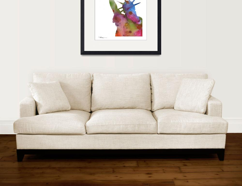 """""""Statue of Liberty&quot  (2015) by k9artgallery"""