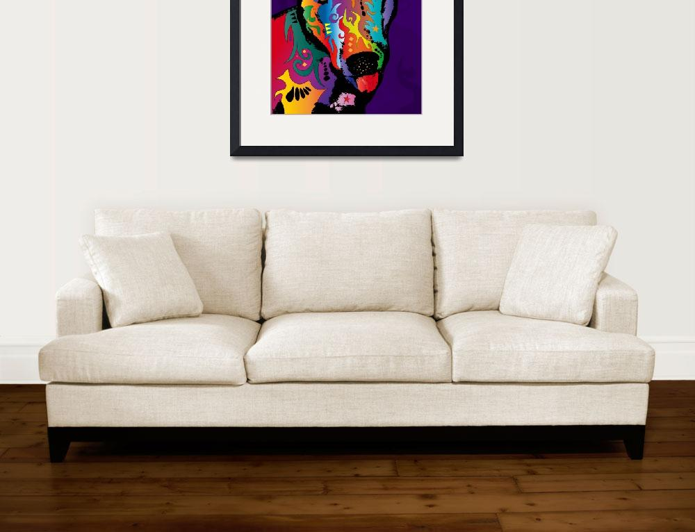 """Bull Terrier&quot  (2011) by ModernArtPrints"