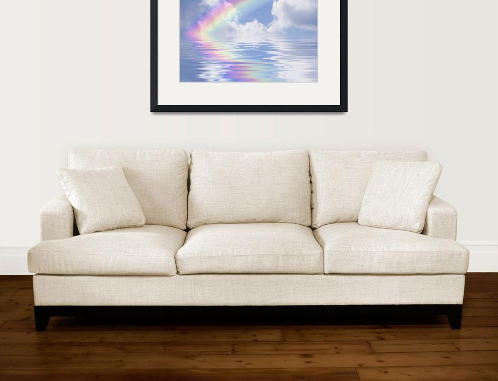 """""""Rainbow and Clouds Reflection&quot  (2008) by sherryk"""