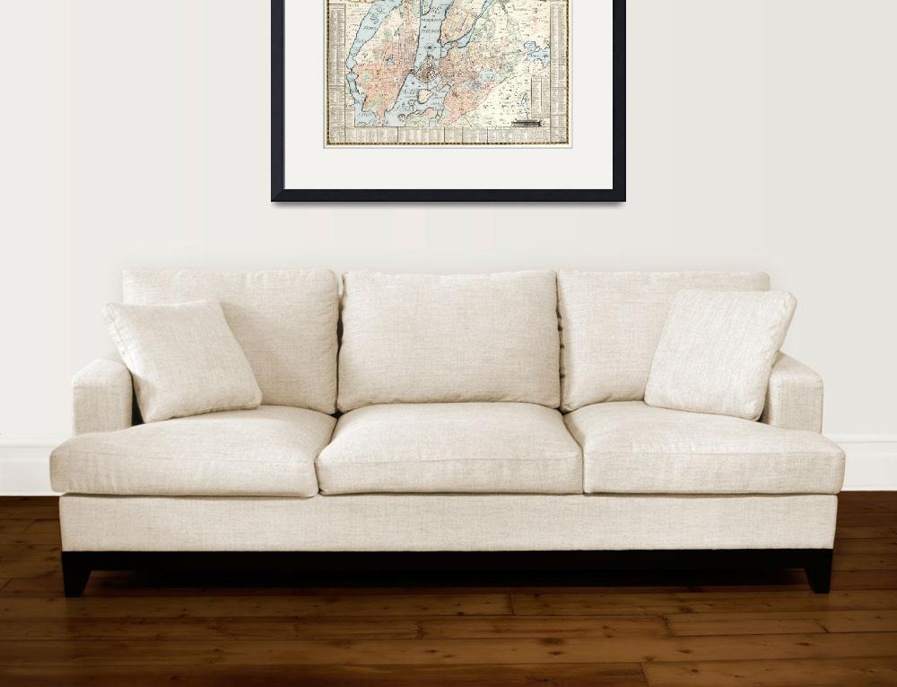 """""""Vintage Map of Stockholm (1733)""""  by Alleycatshirts"""