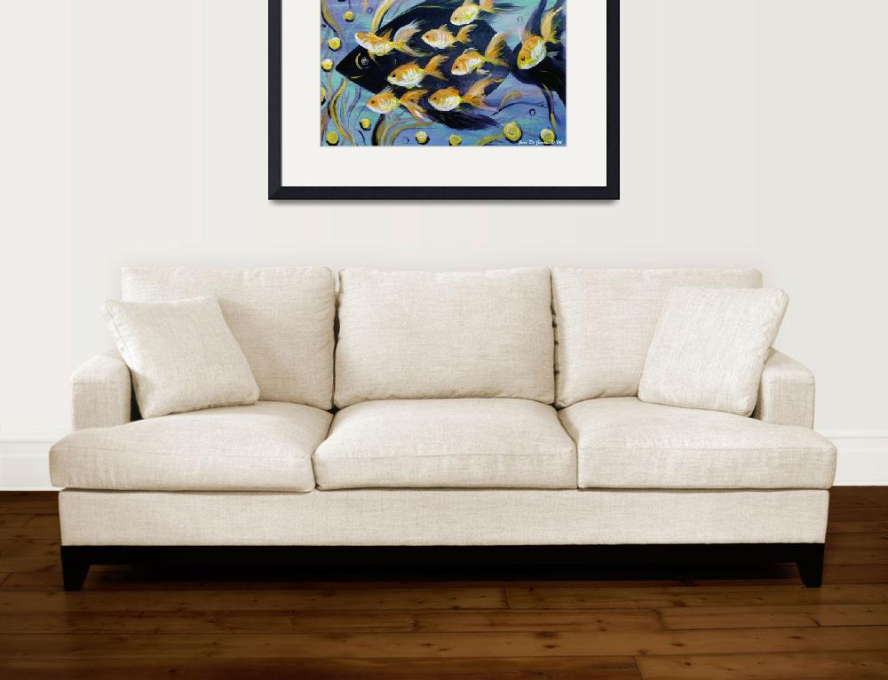 """""""8 Gold Fish&quot  (2010) by GinaDeGorna"""