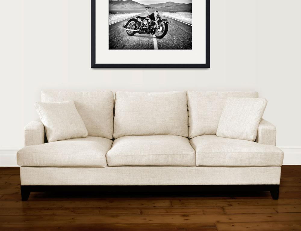 """Harley-Davidson_FL_1950""  (2012) by mark-rogan"