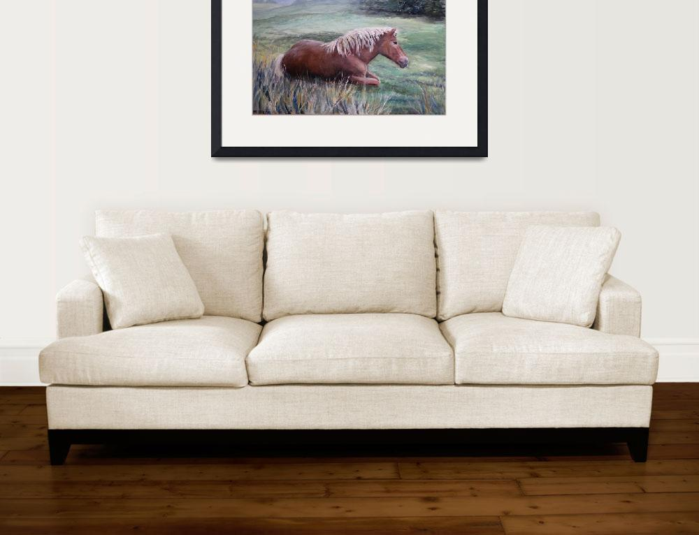 """""""Reclining Horse""""  (2007) by AMVaughn"""