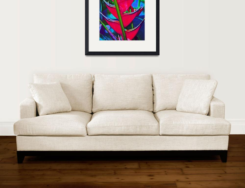 """""""Heliconia Tropical Flower""""  (2011) by KsWorldArt"""
