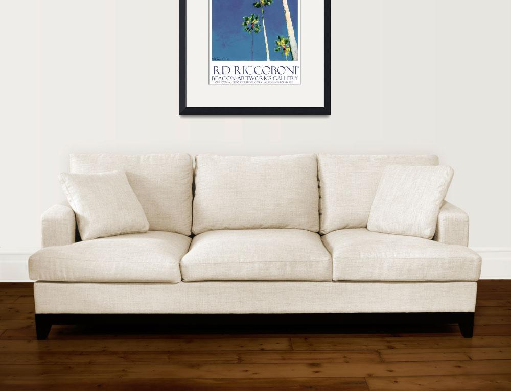 """""""Beacon Artworks Palm Tree Poster&quot  (2011) by RDRiccoboni"""