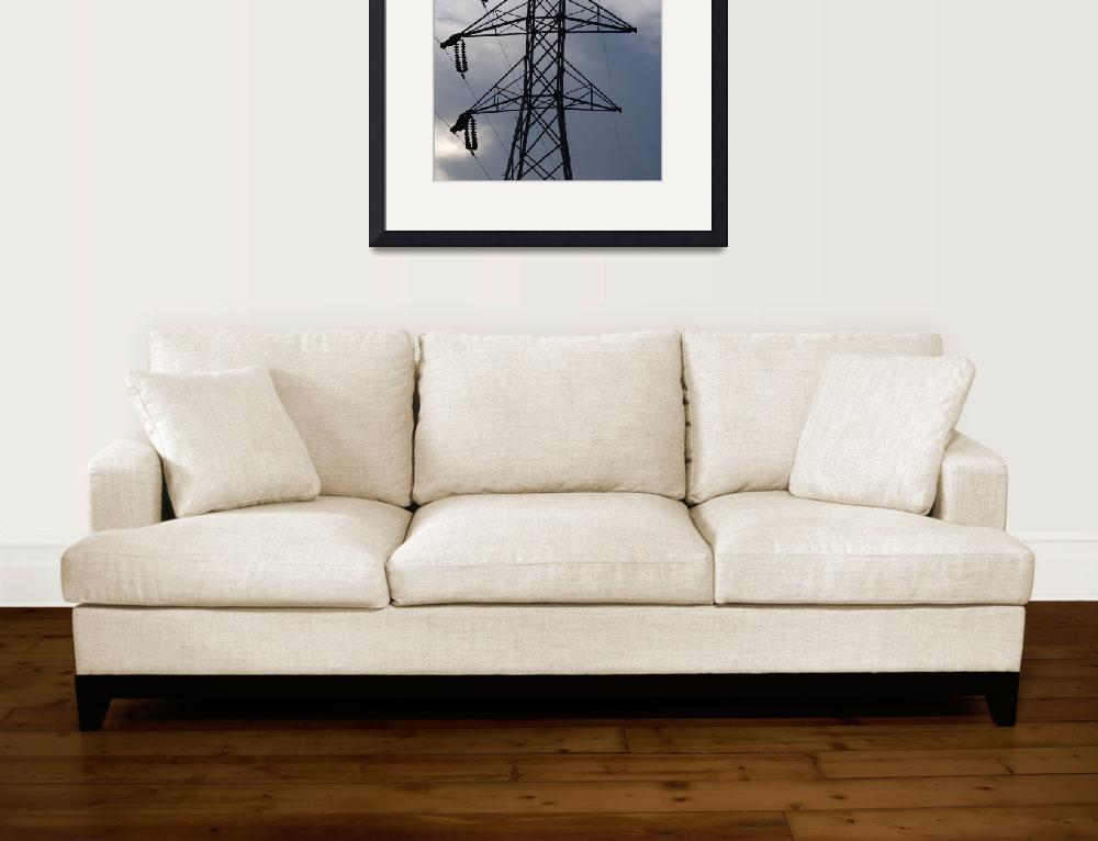 """""""KG&E Late 1920s Period Double Circuit 138-kV Tower&quot  (2012) by TheElectricOrphanage"""