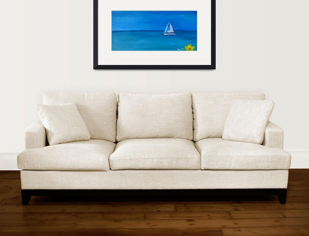 """""""Set_Sail_On_A_White_Boat_In_The_Caribbean_I""""  by arthop77"""