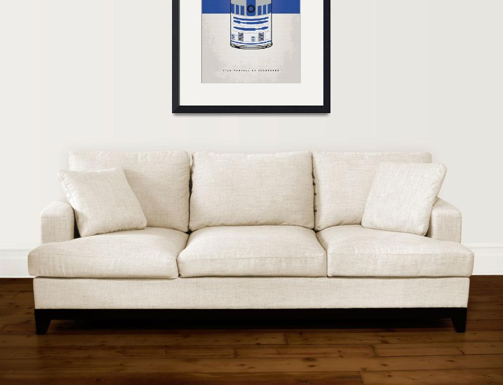 """""""MY STAR WARHOLS R2D2 MINIMAL CAN POSTER&quot  by Chungkong"""