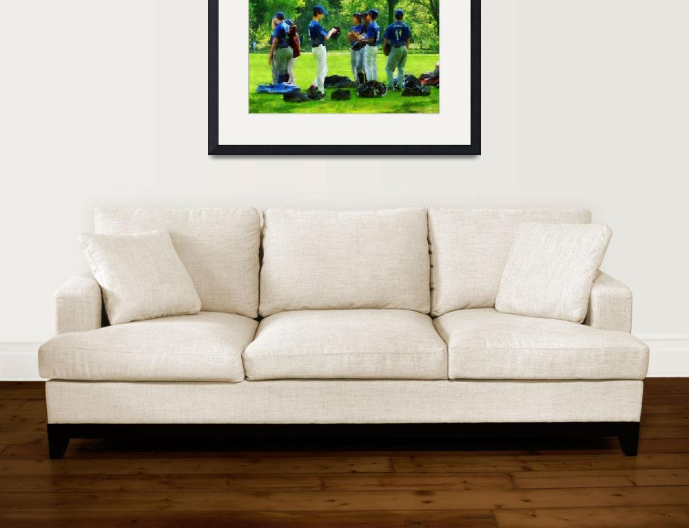 """""""Waiting to Go to Bat&quot  by susansartgallery"""